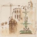 2014 - Carnet de voyage, Encre sur papier - Lisbonne au Portugal