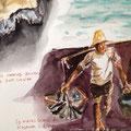2013 - Carnet de voyage Feutre et aquarelle sur papier - Bali