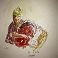 2013 - Carnet de voyage, Feutre et aquarelle sur papier - Bali