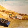2013 - Carnet de voyage , Feutre et aquarelle - Massa au Maroc