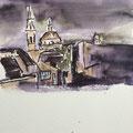 2015 - Carnet de voyage, Aquarelle et feutre sur papier - Florence en Italie