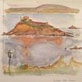 2015 - Carnet de voyage, Aquarelle sur papier - Ile Tristan à Douardenez