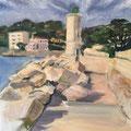 Le phare - 2014 - Huile sur toile - 45,5x60,5 cm - Cassis en France