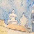 2014 - Carnet de voyage, Aquarelle sur papier - Lisbonne au Portugal