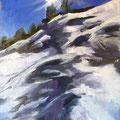 Eclat - 2015 - Huile sur bois, 26,5x33 cm- Vars, Alpes du sud