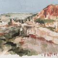 Canaille - 2014 - Carnet de voyage,  Gouache sur papier - Cassis en France