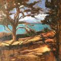 Soleil d'hiver - 2016 - Huile sur toile, 65x100 cm -  Ile Tristan à Douardenez - Exposé à la Biennale de Versailles