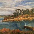 Le phare - 2015 - Huile sur toile, 46x38 cm - Ile Tristan à Douardenez