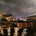 Notre Dame - 2014 - Huile sur toile, 65x50 cm - Commande pour le film Les Parisiennes de Slony Sow