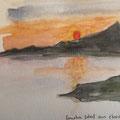 2015 - Carnet de voyage, Aquarelle sur papier - Maratéa en Italie