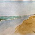 2013 - Carnet de voyage, Feutre et aquarelle - Massa au Maroc