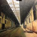 Dock Vauban au le Havre - 2013 - Huile sur toile, 100x80 cm  - Exposé au Salon d'Automne 2015 - D'après une photo de Tom Derhy