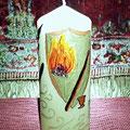 Ritualkerze Magiesymbole
