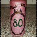 Geburtstagskerze 80 Jahre