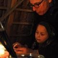 Andrea Weinke-Lau,wieder ein Kreativ-Stand zum Weihnachtsmarkt in Gross Laasch