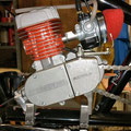 motor mounts motorized chopper bike