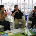Interview par la radio du salon pour introduire la conférence du soir.