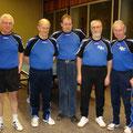 2009 Seniorenmannschaft: Hans-Jürgen Tenhaaf, Dieter Graf, Claus Gersbacher, Josef Brigandt, Franz Burth