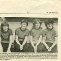 1979 Mädchenmannschaft Pokalsieger