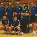 2009 Herren 2: hinten Marco Kiefer, Sebastian Metz, Jakub Lesinski, Christian Hegenbart, Rudi Petermann; vorne Zhongyi Feng, Patrick Emmert