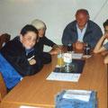 2001 Erste Jugendmannschaft: Tobias Gänswein, Stefan Schönegg, Trainer Rolf Vogt, Sina Sarmadi