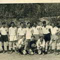 A2-Jugend der Saison 1948/49. Pi Schneider (Trainer), Stehend: Rudolf Dummel, Peter Lott, Peter Schmäh, Ferdinand Wieler, Hans-Joachim Pfeffer, Kurt Waltner, Egon Hehl, Späth. Kniend: Rainer Schmid, Dormehl, Leo Früh.