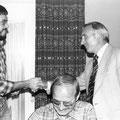 1978 Übergabe der Abteilungsleitung von Heinz Mayer (Mitte) an Elmar Mosbrugger (links). Ganz rechts der damalige FCW-Vorsitzende Peter Obergfell. Vorne Schriftführer Dieter Graf.