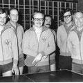 1975 2. Mannschaft: Karsten Lühr, Uli Einhoff, Dieter Graf, Chris Schuler, James Fearns, Heinz Mayer