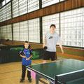 2004 Jugend-Vereinsmeisterschaft Doppel: Michael Klieber, Maxim Ovdeychuk (der Kleinste und der Größte)