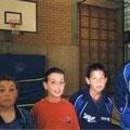 2004 Schülermannschaft: Jonas Binninger, Sandro Loguercio, Eren Sahin, Zhongyi Feng