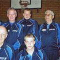 2005 2. Mannschaft Meister der D-Klasse: hinten Helmut Mayer, Franz Burth, Claus Gersbacher, Ludwig Burgmaier; vorne Dieter Graf, Philipp Grundmann
