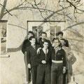 1954 (ca.) Gruppenbild: Hinten Brund Stadelhofer, Oskar Greis, Wolfgang Trummer. Vorne Ludwig Burgmaier, Walter Probst, Heinz Halbherr.