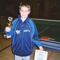 2002 Südbadischer Meister im Doppel: Jonas Binninger