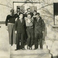 1954 (ca.) Gruppenbild: Hinten Bruno Stadelhofer, ?, Heinz Halbherr, ?. Vorne Ludwig Burgmaier, Willi Raible, Wolfgang Trummer