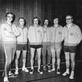 1974 2. Mannschaft: Norbert Fromm, Heinz Mayer, Karsten Lühr, Chris Schuler, Dieter Frey, Dieter Graf (Jahreszahl und Mannschaft unsicher)