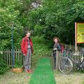 Am Eingang zum Land Art Projekt