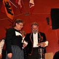 Hansruedi Mäder mit Katrin Henkel