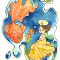 ミニ原画 金魚 2016.12 🔴