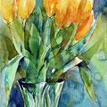 Tulips IV (O3) / Watercolour 17x24cm Lukas © janinaB. 2016