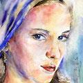 Mädchen mit Kopftuch (O2) / Watercolour 18x25cm