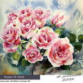 Roses VI 2016 (T3) / Watercolour 30x40cm Arches CP © janinaB. 2016