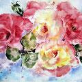 Rosen VI / Aquarell auf Arches 23x31cm