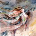 Gedanken folgend (T1) / Watercolour 34x48cm / insp. Ch. Atkinson