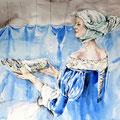 ich bin das Meer (13) / Watercolour 30x40cm insp. von russ. Zeichner