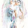 chica bailando (T1) / Watercolour 34x48cm