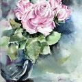Roses XVI 2016 / Watercolour 30x40cm on Fabriano CP © janinaB. 2016