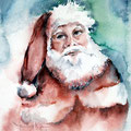 Santa Claus (O1) / Watercolour 18x24cm