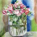 Roses XVIII 2016 / Watercolour 30x40cm  on Fabriano CP © janinaB. 2016