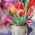 Tulpen III (10) / Aquarell 30x40cm auf Arches HP © janinaB. 2016