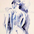 Nude (12) / Watercolour 24x34cm auf dicker Pappe